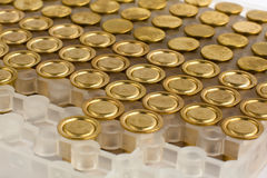 Packaged shotgun primers Stock Photo