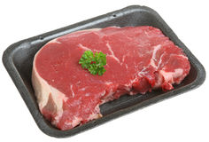 Packaged Sirloin Steak Stock Image