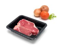 Packaged T Bone Steak Royalty Free Stock Photo