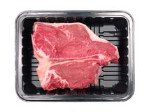 Packaged T Bone Steak Royalty Free Stock Images
