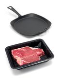 Packaged T Bone Steak Stock Photo