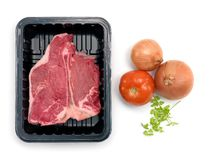Packaged T Bone Steak Stock Images