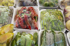 Packaged vegetables Royalty Free Stock Photo