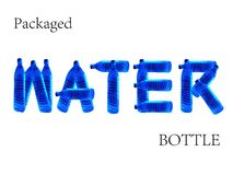 Packaged Water Bottle vector illustration