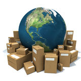 Packaged World Royalty Free Stock Photos
