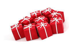 Packages of christmas gifts Stock Photo
