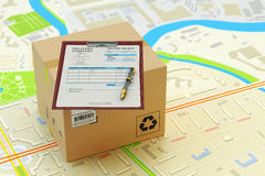 Packages delivery service, parcels transportation, transport of purchases, logistics and business concept Stock Photography
