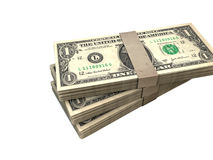 Packages dollars Stock Photos