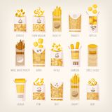 Packages of dry pasta Royalty Free Stock Photos