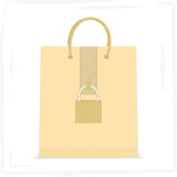 Packages with locks. Safe shopping. Vector format Royalty Free Stock Photo