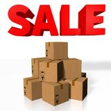 Packages sale concept... Royalty Free Stock Photos