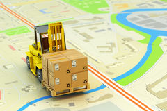 Packages shipment, logistics and cargo delivery concept Stock Image