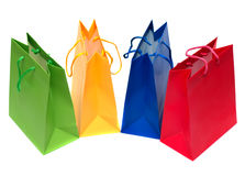 Packages for shopping isolated Royalty Free Stock Photos