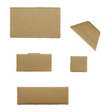 Packaging board isolated on white background Stock Photo