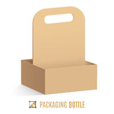 Packaging for bottles Stock Photos