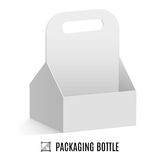 Packaging for bottles. White cardboard packaging for bottles  on a background Stock Photo