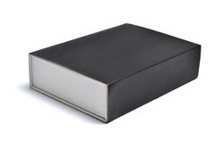 Packaging box. Black packaging box on white background Stock Photography
