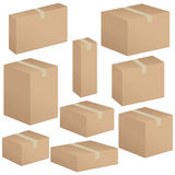 Packaging box set Royalty Free Stock Images