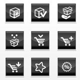 Packaging and buy icons Royalty Free Stock Image