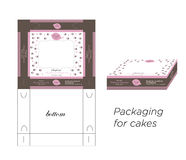 Packaging for cakes Royalty Free Stock Photography