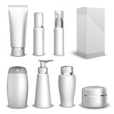 Packaging containers Beauty products Stock Photo