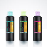 Packaging design Template for body care bottle Stock Image