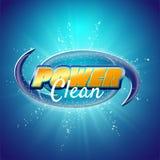 Packaging design template for washing powder. Super clean. Soap bubbles, foam. Vector illustration vector illustration