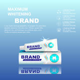 Packaging design for toothpaste ads. Royalty Free Stock Images