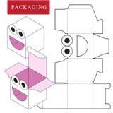 Packaging Design.Vector Illustration of Box. royalty free illustration