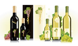 Packaging design for white and red wine Stock Photography