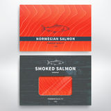 Packaging for fish. Packaging design template for smoked salmon and frozen. Vector Royalty Free Stock Photography