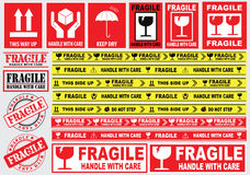 Packaging or Fragile Stickers Royalty Free Stock Photography