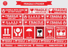Packaging or Fragile Stickers royalty free illustration