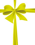 Packaging with a green ribbon with a bow Royalty Free Stock Photo
