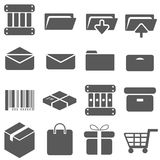 Packaging Icon Set Vector. Packaging Box Mail Icon Set Vector Royalty Free Stock Images
