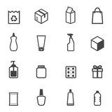 Packaging icons. Mono vector symbols Royalty Free Stock Photography