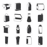 Packaging icons Stock Images