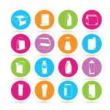 Packaging icons Royalty Free Stock Photography