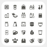 Packaging icons set Royalty Free Stock Photos