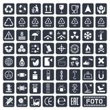 Packaging icons set Stock Images