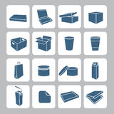Packaging Icons Set Stock Image