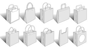 Packaging items version 4 royalty free illustration