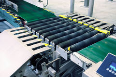 Packaging line conveyor Stock Image