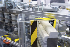 Packaging line for the production of medicines plant. Industry royalty free stock photos