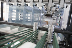 Packaging machine. Detail of packaging machine for rolls Stock Image