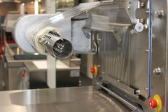 Packaging machine of manufacturing Royalty Free Stock Photo