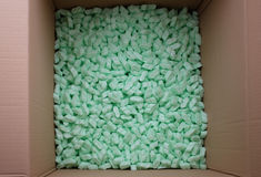 Packaging material in box Royalty Free Stock Image