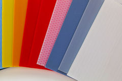 Packaging material in different colors Stock Image