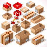 Packaging 01 Objects Isometric Stock Images