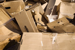 Packaging packs thrown up to landfill. Packaging packs ejected at the dump harmful to the environment Royalty Free Stock Photography